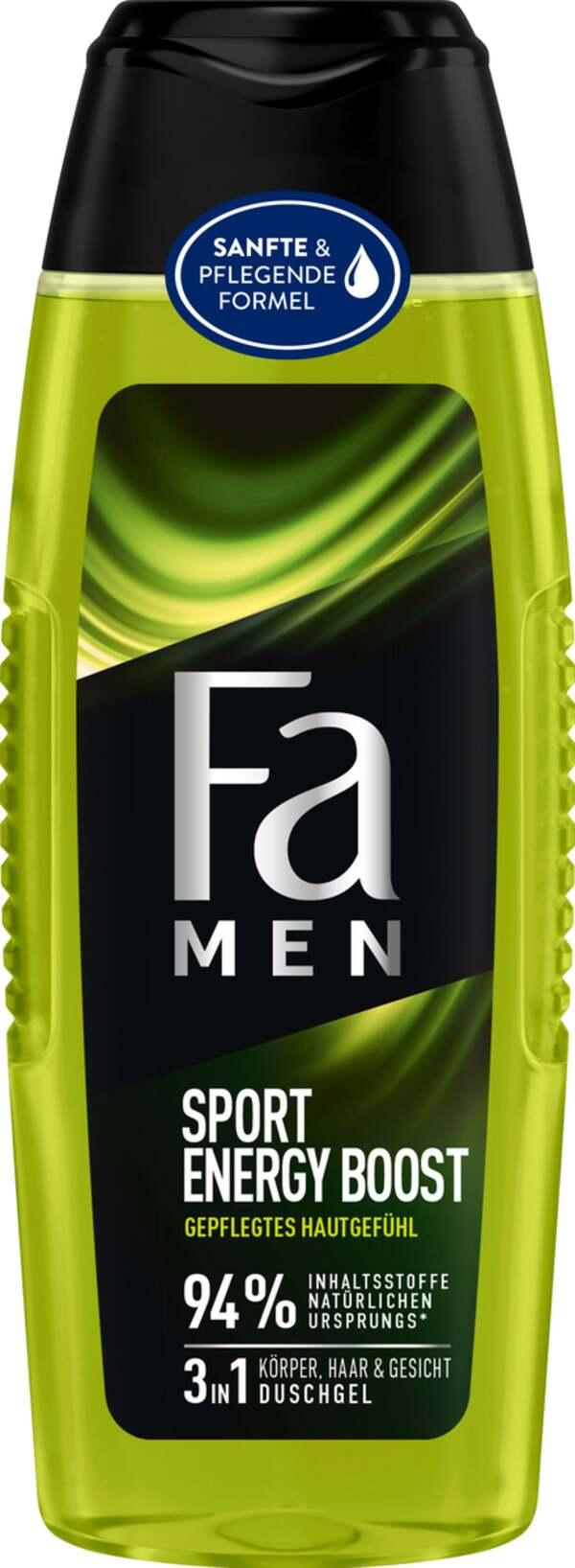 Fa Men 3in1 Körper, Haar & Gesicht Duschgel Sport Energy Boost