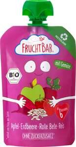 FruchtBar Bio Frucht- und Gemüsepüree Apfel, Erdbeere, Rote Bete, Reis