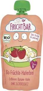 FruchtBar Bio Früchte-Haferbrei Erdbeere, Banane, Hafer