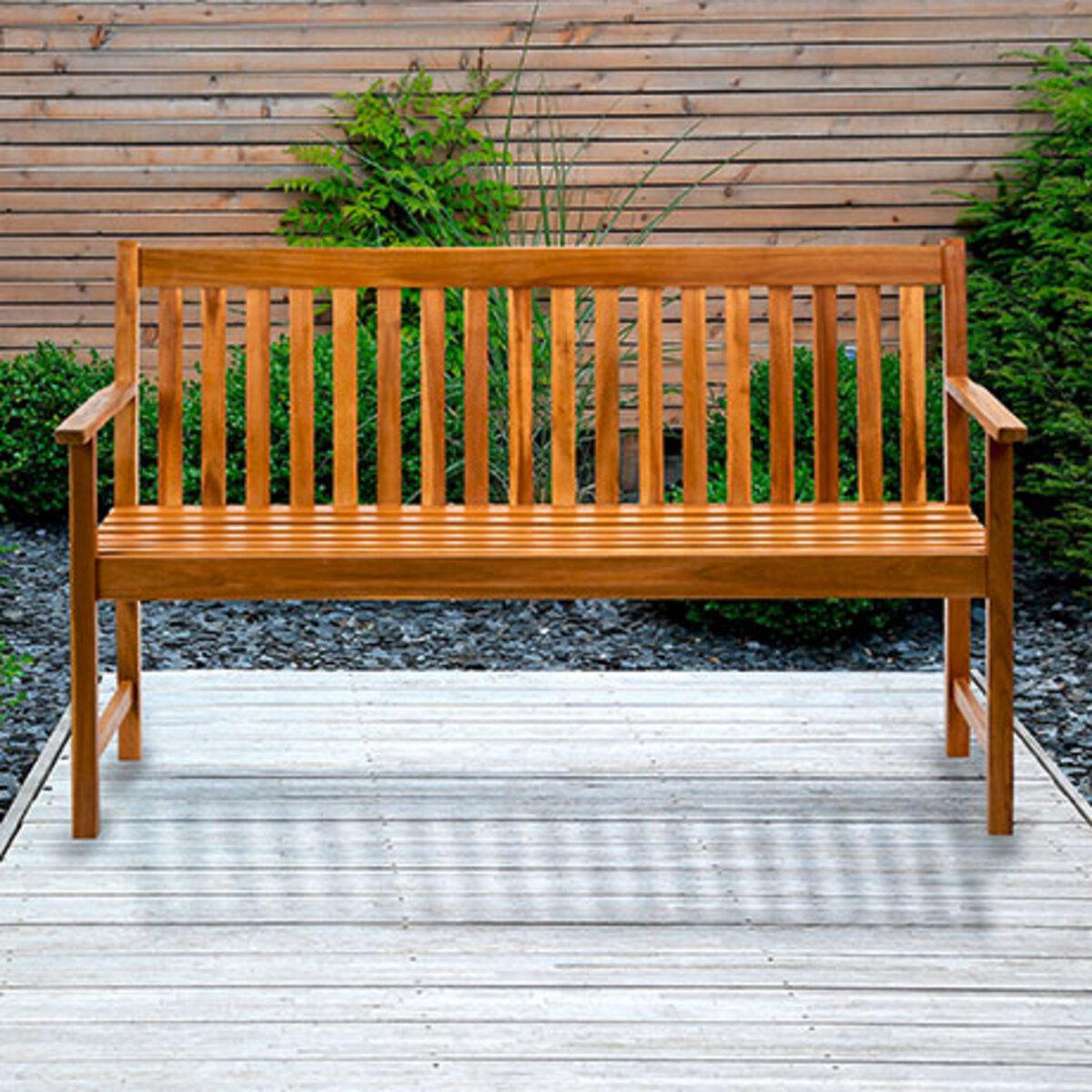 Bild 1 von Holzbank, 3-Sitzer1