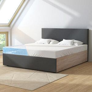 Wasserbett in moderner Stoff-Holz-Kombination, inkl. Aufbauservice1