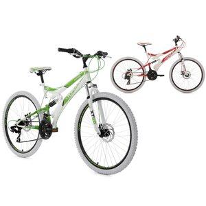 KS Cycling 26 Fully Mountainbike 21 Gänge Topeka für Herren, Größe: 44, Weiß