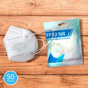 Filtrierende Halbmasken FFP2 NR, 50 Stk.