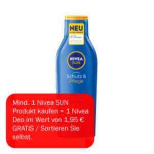 Nivea Sonnenspray oder Sonnenmilch LSF 30/50+