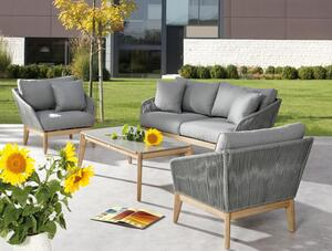BEST 4-tlg. Lounge Gruppe Samos Grandis/grau, 99140167 braun