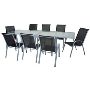 Harms Tischgruppe LOLA 9 tlg. / 1x Tisch / 8x Stapelstuhl ; 305261