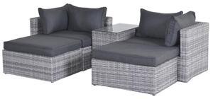 Garden Impressions Balkon Lounge Set Garda 5-tlg. cloudy grey