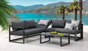 BEST 3-tlg. Lounge-Gruppe Rhodos anthrazit/anthrazit, 98693050 grau