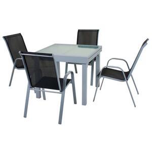 Harms Tischgruppe LOLA 5 tlg. / 1x Tisch  / 4x Stapelstuhl ; 305260