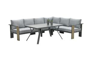 Garden Impressions Lounge/Dining Set Plato 5-teilig rechts und links Vironwood