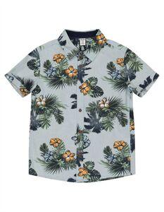 Jungen Hemd - Florales- Muster
