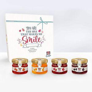 Schwartau Mini-Konfitüre Geschenkset, verschiedene Sorten, 9 Gläschen x 28,3 g