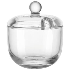 Leonardo Zuckerdose glas  061141  Klar