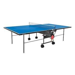 Sponeta Outdoor Tischtennisplatte mit Schlägerset und Abdeckhülle blau