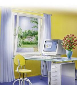 tesa Insektenschutz Fenster SUN PROTECT 130 x 150 cm, anthrazit