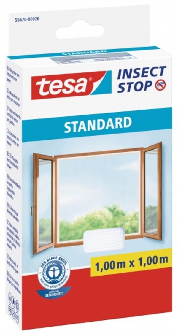 tesa Insektenschutz Gitter ,  100 x 100 cm, weiß