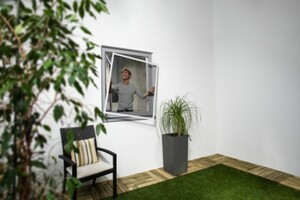 TrendLine Insektenschutz-Fenster SLIM 120 x 150 cm, weiß