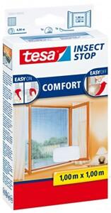 tesa Insektenschutz Fenster COMFORT 100 x 100 cm, weiß