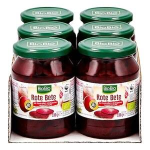 BioBio Rote Bete Scheiben 220 g, 6er Pack