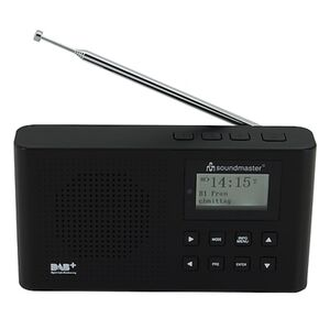 Soundmaster DAB160SW DAB+/UKW Digitalradio mit eingebautem Li-Io-Akku, schwarz