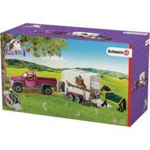 Schleich® Pick-up mit Pferdeanhänger