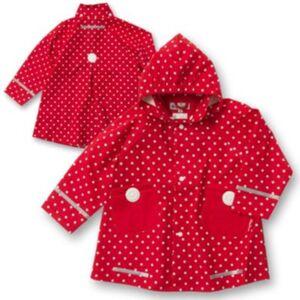 PLAYSHOES Kinder Regenmantel Punkte  rot Gr. 104 Mädchen Kleinkinder