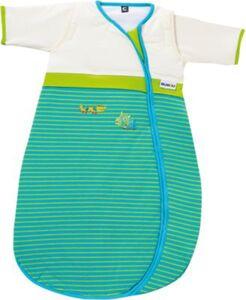 Schlafsack Bubou, Krokodil, gestreift blau/grün Gr. 70