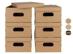 MELINERA® Boxen, 6 Stück, mit Tragegriffen, faltbar