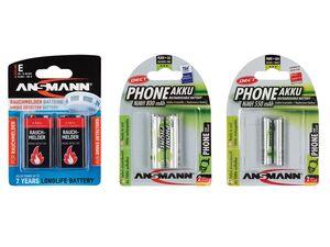 ANSMANN Rauchmelder Batterien, mit 36 Bilster