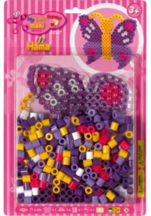 Hama Perlen HAMA 8908 maxi-Mitbringsel Geschenkset Schmetterling
