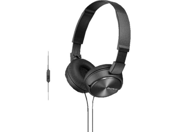SONY MDR-ZX310APB Kopfhoerer mit Headset schwarz - On-Ear-Kopfhörer