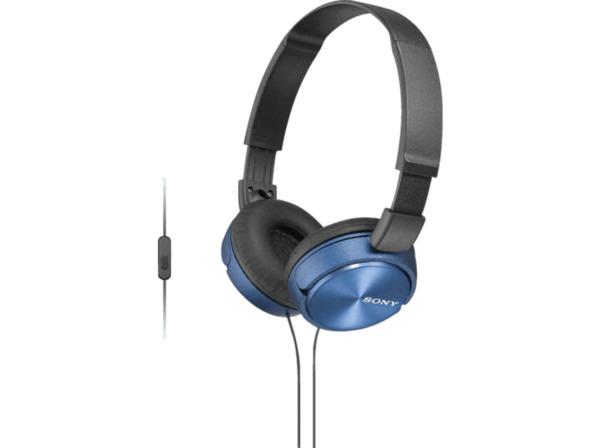 SONY MDR-ZX310APL Kopfhoerer mit Headset blau - On-Ear-Kopfhörer