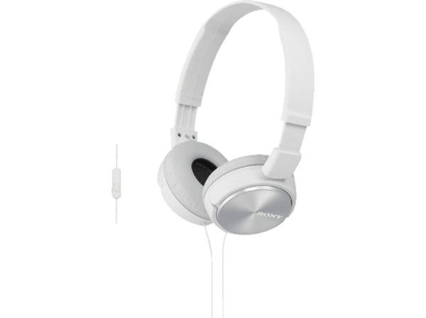 SONY MDR-ZX310APW Kopfhoerer mit Headset weiss - On-Ear-Kopfhörer