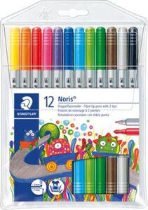 Staedtler Noris Club Doppelfasermaler  12 Farben