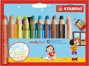 STABILO Farbstift woody 3in1 m. Spitzer  10er-Kartonetui