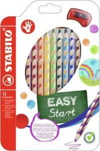 STABILO Farbstift EASYcolors 12er-Etui m. Spitzer  Rechtshänder