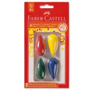 Faber-Castell Wachsmalkreiden für Kleinkinder  Birnenform  4 Farben