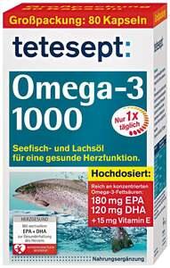 tetesept Omega-3 Lachsöl 1000 5.11 EUR/ 100 g