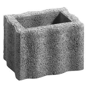 Pflanzstein Wellino Grau 30 cm x 20 cm x 20 cm