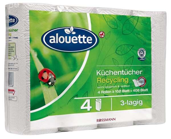 alouette Küchentücher Recycling