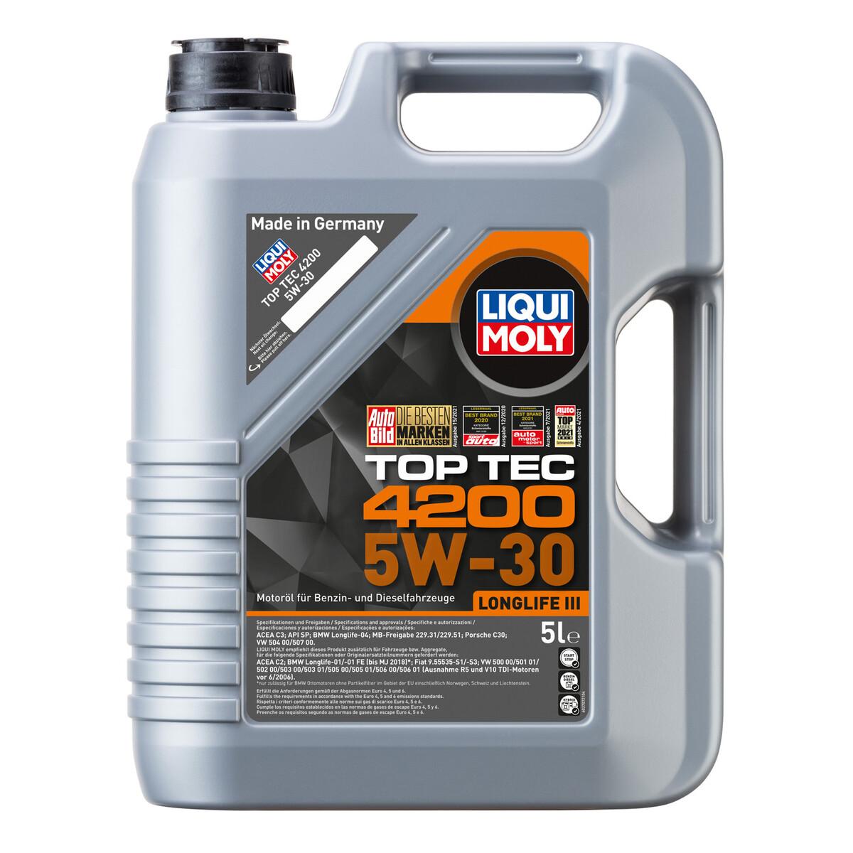 """Bild 2 von Motorenöl """"Top Tec 4200 5W-30"""" 5 l"""