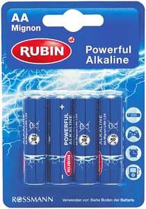 Rubin              Powerful Alkaline Batterie AA