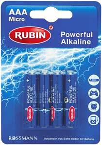Rubin              Powerful Alkaline Batterie AAA
