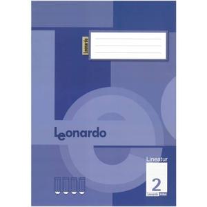 Schreibheft DIN A4 liniert - Lineatur 2 -  2. Klasse