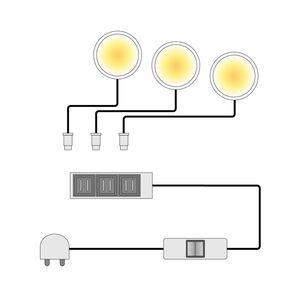 EEK A+, LED-Powerspot Lopburi (3er-Set) - Weiß, loftscape