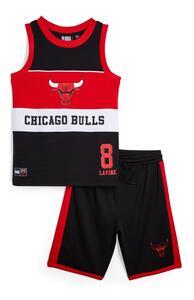 "Schwarzes ""NBA Chicago Bulls"" Set mit Trägerhemd und Shorts (Teeny Boys)"