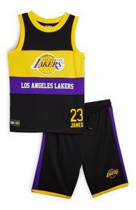 """Schwarzes """"NBA LA Lakers"""" Set mit Trägerhemd und Shorts (Teeny Boys)"""