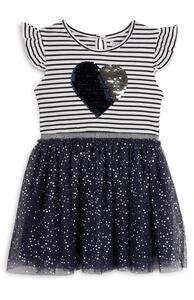 Marineblaues 2-in-1-Tutu-Kleid (kleine Mädchen)