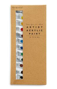 Acrylfarben-Set für Künstler, 12er-Pack