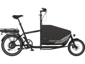 FISCHER 61336 Lastenrad (Laufradgröße: 20 Zoll, Unisex-Rad, 522 Wh, Schwarz Matt)